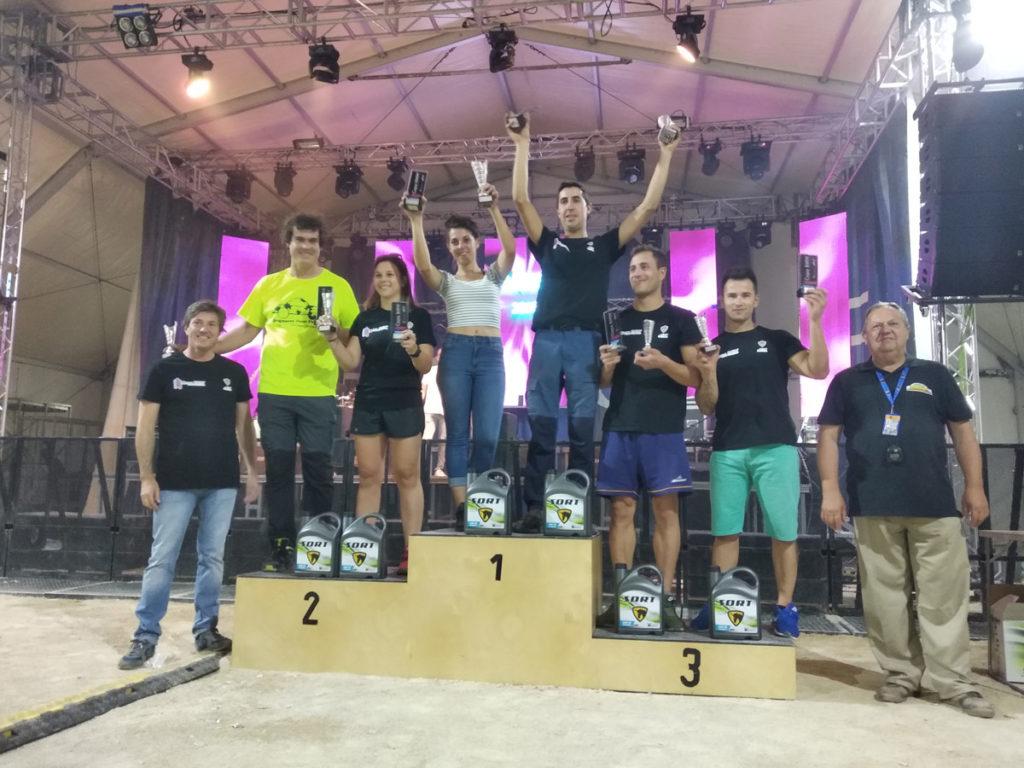 Podium BMW Copa de Tramos de Tierra de Aragón con SORT